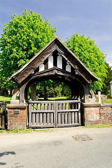 Lychgate of All Saints Church, Alrewas by Rod Johnson