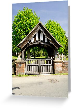 Lychgate of All Saints Church, Alrewas by Rod Johnson