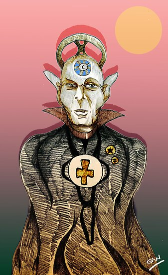 High Priest of Punk Cartoon by Grant Wilson