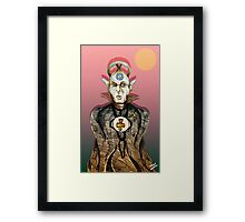 High Priest of Punk Cartoon Framed Print