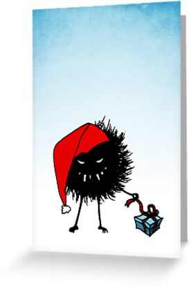 Evil Christmas Bug With Present by Boriana Giormova