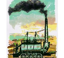 Steam Elephant iPhone Case by Dennis Melling