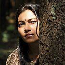A portrait in the woods. by debjyotinayak