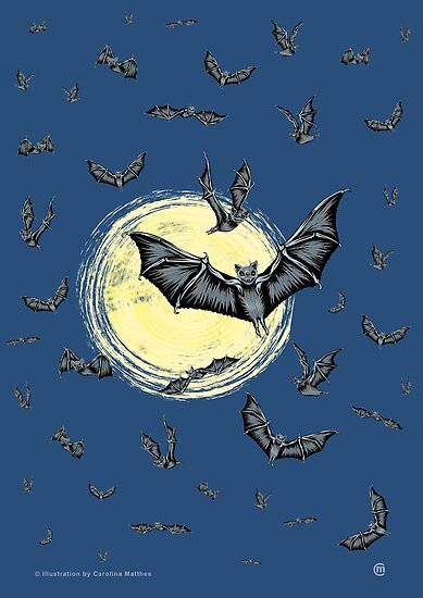 Bat Swarm (Poster & Cards) by CarolinaMatthes