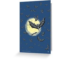 Bat Swarm (Poster & Cards) Greeting Card