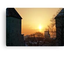 Winter in Tallinn Canvas Print