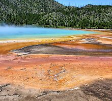 The Colours of Grand Prismatic Spring, Yellowstone NP by Teresa Zieba