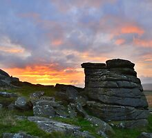 Dartmoor: Sunrise at Parliment Rock by Rob Parsons