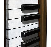 Piano Keys - oil painting iphone case by LindaAppleArt