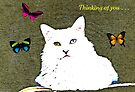 In the garden with the butterflies (greeting card) by Scott Mitchell