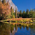 Autumn Reflection and El Capitan by Floyd Hopper