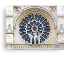 Notre-Dame Paris - The facade Rose (3) Canvas Print