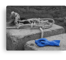 Two Blue Gloves Canvas Print
