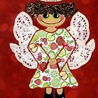 Fruit Salad Angel - she's quirky and cute as a button! by Lisa Frances Judd ~ QuirkyHappyArt