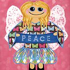 Butterfly Peace Angel - she has a message for all of us. by Lisa Frances Judd ~ QuirkyHappyArt