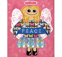 Butterfly Peace Angel - she has a message for all of us. Photographic Print