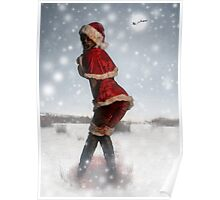 Mrs. Claus Zombie Pinup Poster