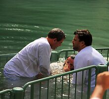 Baptised in the Jordan river #10 by Moshe Cohen