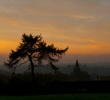 Longsdon Church at Dawn by David J Knight