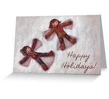 Snow angels Greeting Card