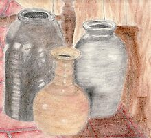 Still Life with Pottery by Sarah Countiss