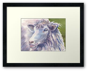 Baaaa (sheep series 3) by Marsha Elliott