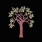 Tree 1 (black) iPhone case by Kelly Gatchell Hartley