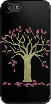 Tree 2 (Black) iPhone case by Kelly Gatchell Hartley