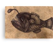 Black Devilfish (or The Angler Fish) Canvas Print