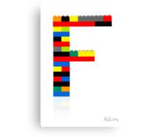 """F"" Canvas Print"