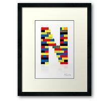 """""""N"""" Framed Print"""