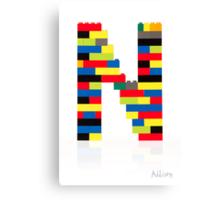 """""""N"""" Canvas Print"""