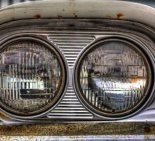 In the Headlights -1959 Ford Fairlane by njordphoto