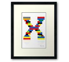 """""""X"""" Framed Print"""