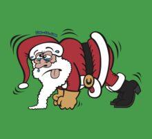 Santa Claus Doing Pushups Kids Clothes