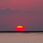 SUNSET OVER ASH DAM by faulsey