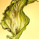 Green Goddess lily. by Elizabeth Moore Golding