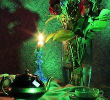 Green Tea Roses (still life) by FrankSchmidt