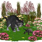 Trouble in the garden .. July Cat by LoneAngel
