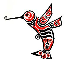 Tribal Hummingbird by Birdie Murray
