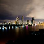 Chao Phraya River at Night by Asif Patel