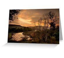 Sunset over the Umkomaas River, Kwazulu Natal, South Africa Greeting Card