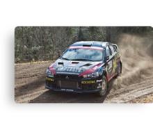 Rally Lancer Evo Drift Canvas Print