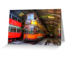 Tram 812 Glasgow Corporation Greeting Card