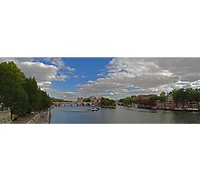 Seine River, from the Pont des Arts' looking east Photographic Print