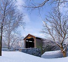 Covered Bridge In Winter by Mark Van Scyoc