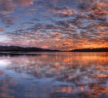 Reflecting The Day - Narrabeen Lakes, Sydney Australia - The HDR Experience by Philip Johnson