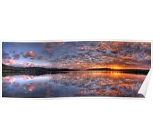 Reflecting The Day - Narrabeen Lakes, Sydney Australia - The HDR Experience Poster