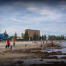 Glenelg Beach, Adelaide - a good wading day by BronReid
