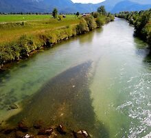 River Loisach Germany by Daidalos